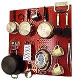 Wall Control 30-KTH-200 RBU Kitchen Pegboard