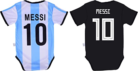 Athletics Rhinox Lionel Messi #10 Soccer Jersey Baby Infant /& Toddler Onesies Rompers Pack of 2 Home /& Away Jersey Design Bundle