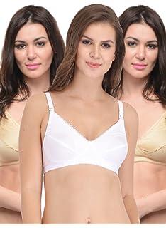 ccc92bd7bb BODYCARE Pack of 3 Maternity-Feeding Bra in Skin   White Color - E1523SSW
