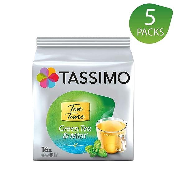 Tassimo Twinings Té verde y Menta Cápsulas - 5 Paquetes (80 Porciones)