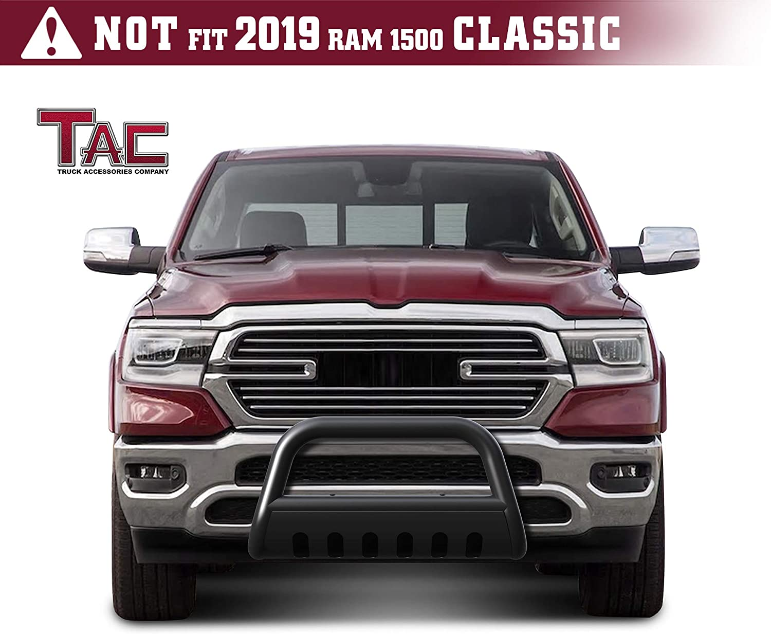 amazon com tac bull bar fit 2019 2020 dodge ram 1500 excluding 2019 2020 ram 1500 classic truck pickup 3 black front bumper grille guard brush bumper guard with skid plate off road exterior accessories automotive tac bull bar fit 2019 2020 dodge ram 1500 excluding 2019 2020 ram 1500 classic truck pickup 3 black front bumper grille guard brush bumper guard
