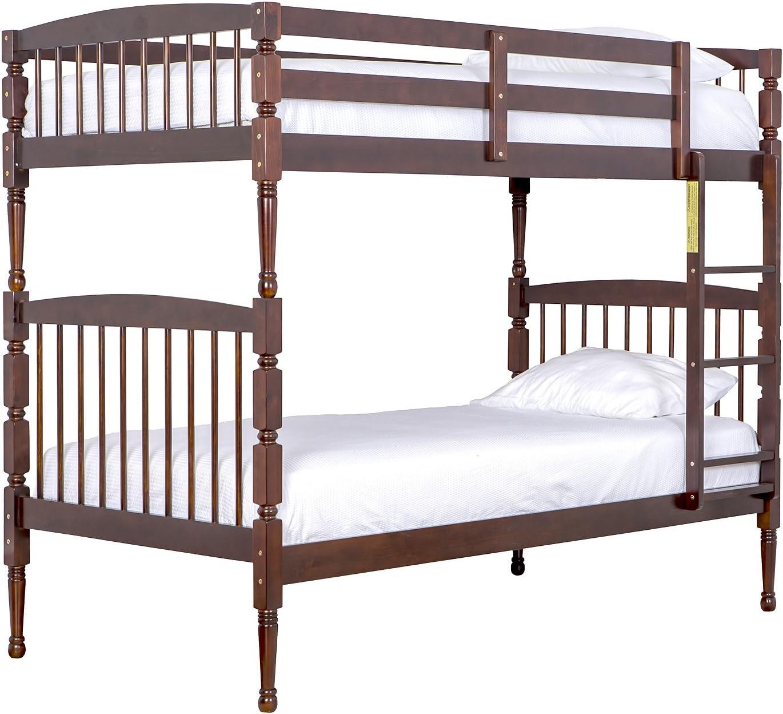 Espresso 99 Pound Dream On Me Julia 2-in-1 Twin Over Bunk Bed