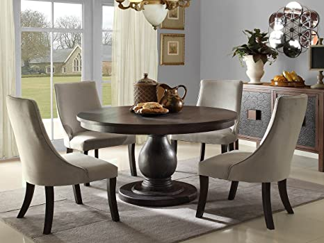 Dandelion 5 PC Dining Table Set by Home Elegance in Rustic Brown
