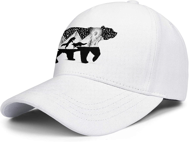 Bear and Foxes Unisex Baseball Cap Summer Sun Caps Adjustable Trucker Caps Dad-Hat