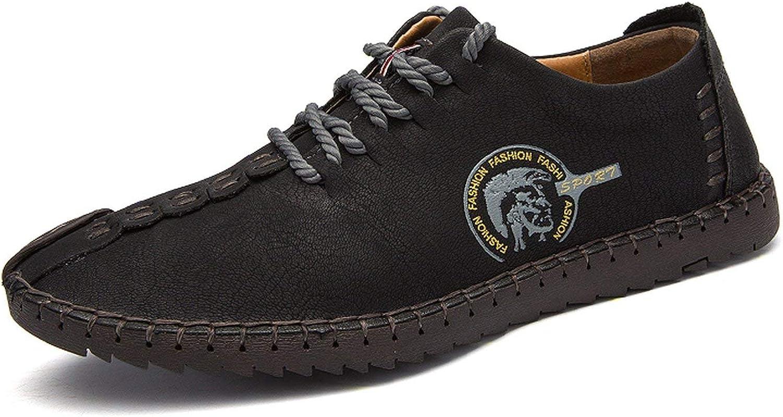 VANCAT 2018 New Comfortable Big Size 38-46 Casual Shoes Loafers Men Shoes Quality Split Leather Shoes Men Flats Moccasins