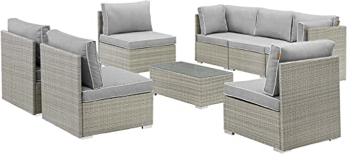 Modway EEI-3012-LGR-GRY-SET Repose Outdoor Patio Sectional Set