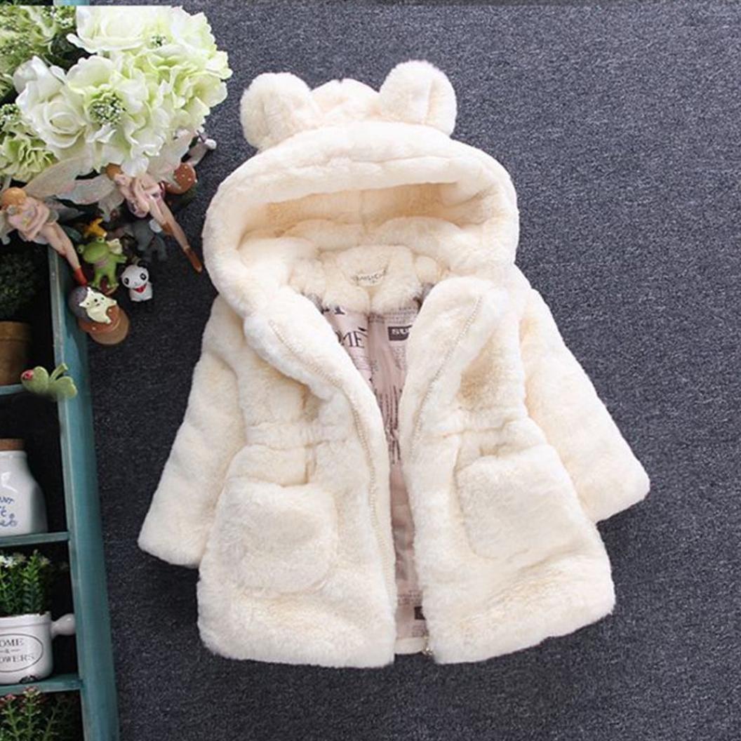 Manteau à capuche Bébé Fille Hiver Chaud Fourure Ultra Épais Longra  Oreilles de lapin Forme Vêtements Agrandir l image 0201b825f9e