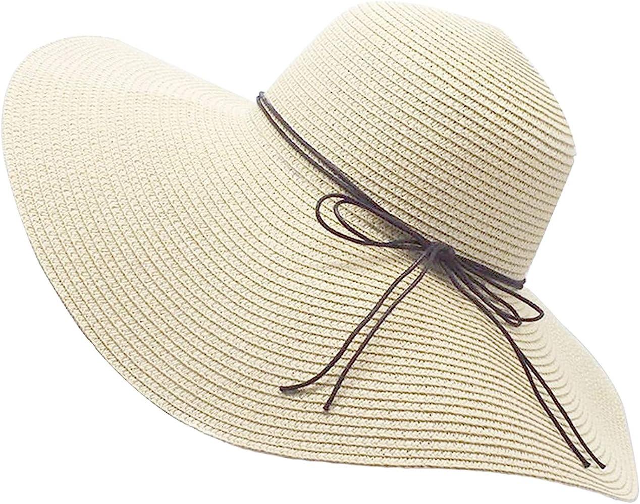 Mens Womens Sun Hat Summer Wide Brim Cap Floppy Straw Hat Packable Beach Cap