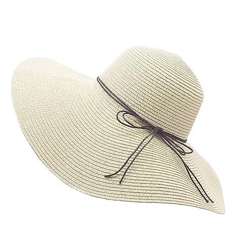 Prix usine 2019 revendeur matériaux de qualité supérieure YUUVE Femme Chapeau de Paille Pliable Capeline Tresse Été Fedora  Pare-Soleil Large Bord Plage Voyage