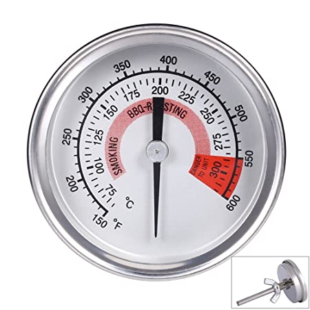 Stainless 550℉Barbecue BBQ Charcoal Grill Wood Smoker Thermometer Temp Gauge UK
