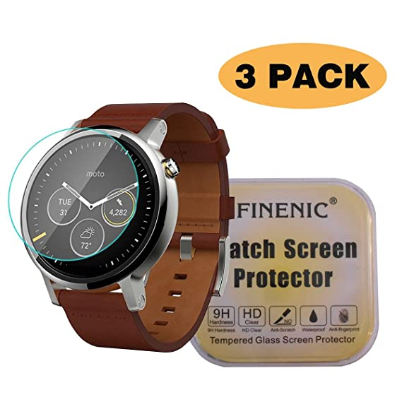 Amazon.com: FINENIC [3 Pack] Screen Protector for Moto 360 ...