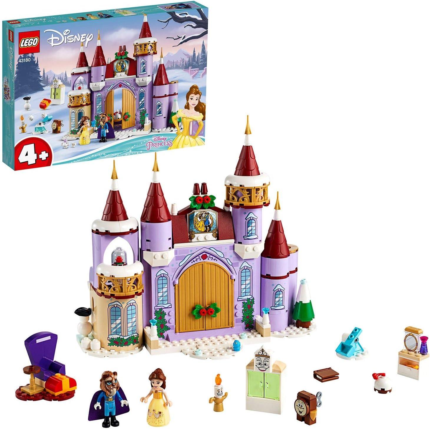 Disney Princess Celebración Invernal en el Castillo, Juguete de La Bella y la Bestiapara Niños de Prescolar 4+, multicolor (Lego ES 43180)