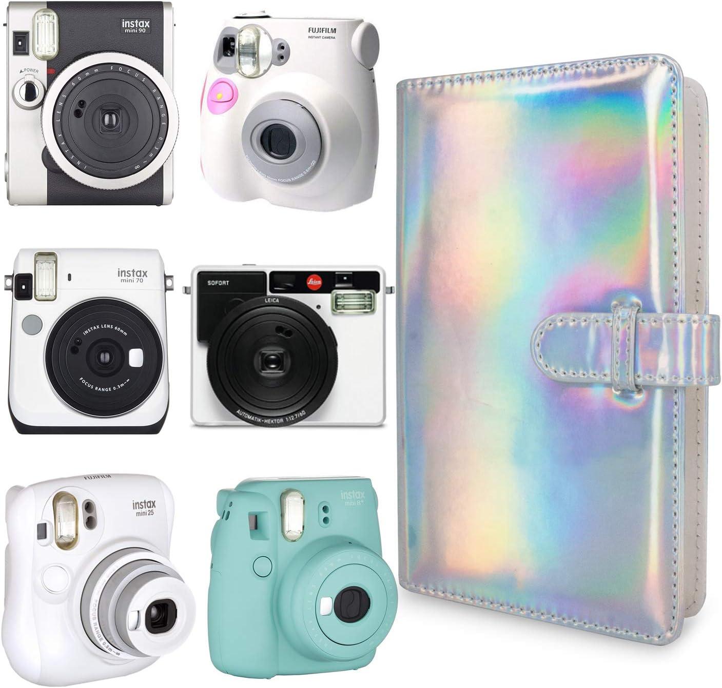 Polaroid PIC-300 Z2300 Film Square WOLVEN Mini Photo Album for Fujifilm Instax Mini 7s 8 9 25 26 50s 70 90 Film
