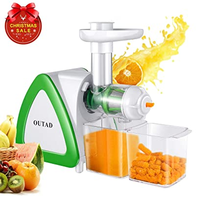OUTAD 150W Low Speed Masticating Juicer Extractor, Cold Press Juicer, Lowest Noise, with