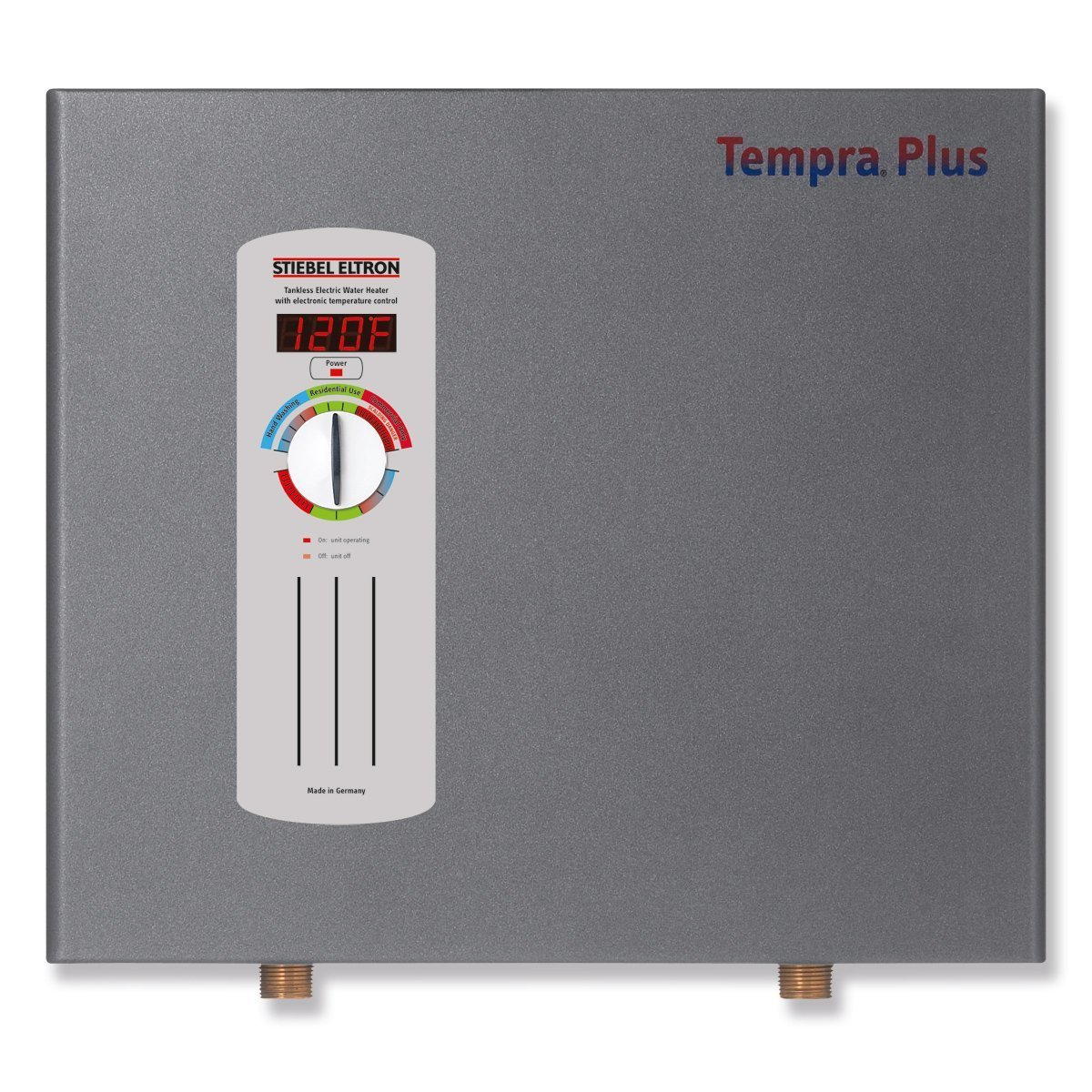 1. Stiebel Eltron Tempra Plus 29 kW, tankless electric water heater with Self-Modulating Power Technology & Advanced Flow Control