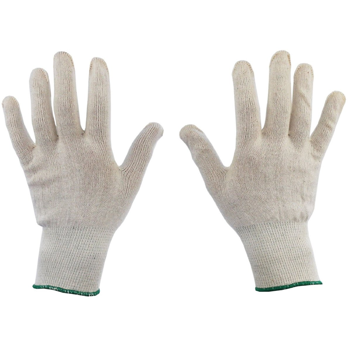 Tinksky 6 Pairs Cotton Gloves Health Canvas Beauty Work Liner White