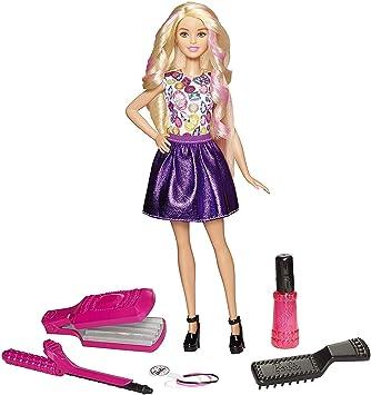 Amazon.es: Barbie Muñeca Ondas y rizos, muñeca para peinar (Mattel ...