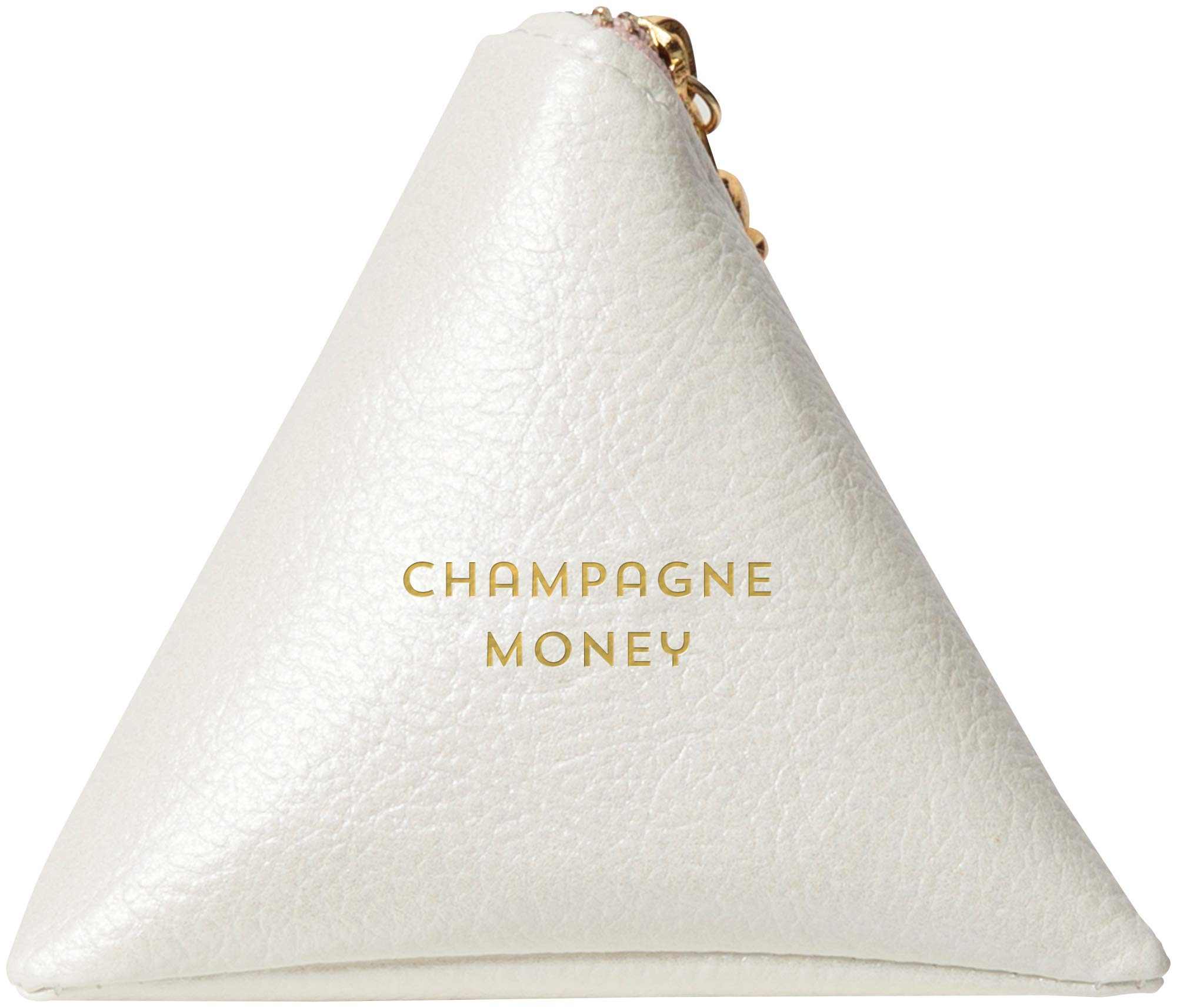 C.R. Gibson White 'Champagne Money' Keychain Travel Pouch, W X 3.25'' H Purse, One Size