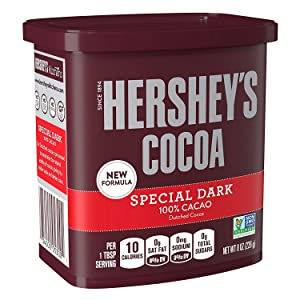Hershey's Special Dark Cocoa, 8-Ounce Container (Pack of 24)