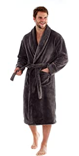 Harvey James Mens Luxury Supersoft Shawl Collar Dressing Gown. Navy Or  Grey. Sizes M L 7cdb73ffc