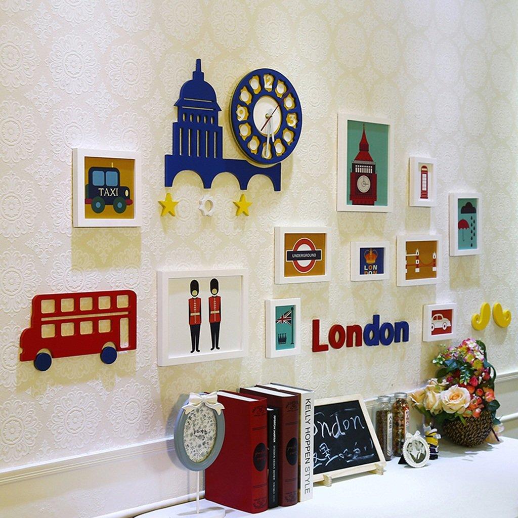Unbekannt 10 Multi Bilderrahmen Set Moderne Britischen Stil Schlafzimmer Studie Wohnzimmer Esszimmer Kinderzimmer Kreative Wand Kombination @The harvest season (Farbe : A)
