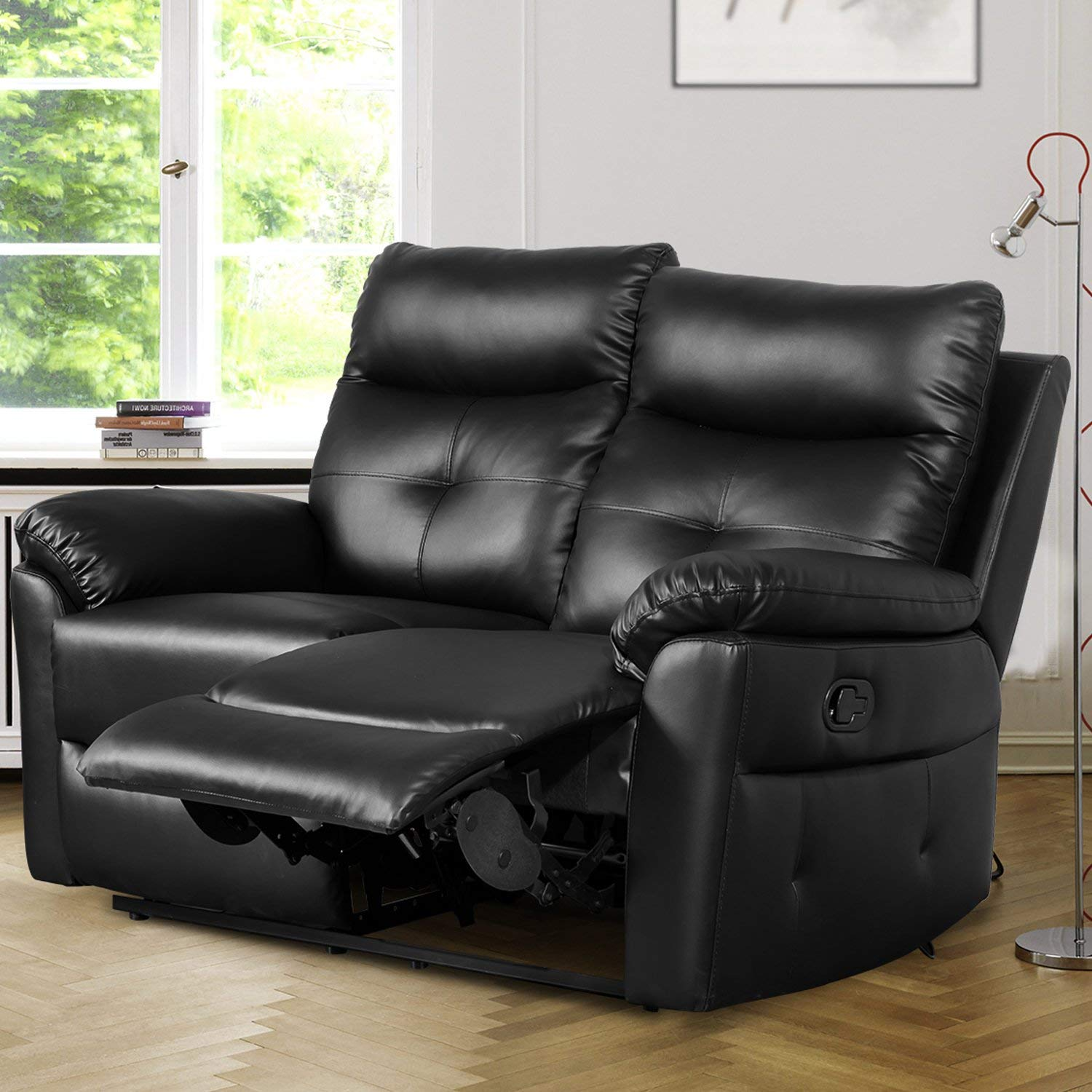 LENTIA PU Manual Recliner Leather Sofa Reclining Couches 3 Seater 2 Seater  (2 Seater)