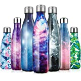 Botella de Agua Acero Inoxidable 350/500/750ml, Cantimplora Termo con Doble Aislamiento para 12 Horas de Bebida Caliente…