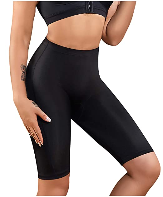 e2fb599c5da16 Gotoly Women s Hi-Waist Tummy Control Shapewear Thigh Slimmer Smooth Slip  Short Panty (Black