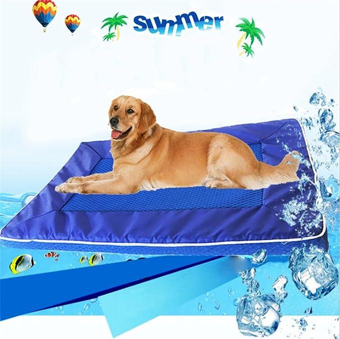 Bre Mascota Almohadilla de Hielo Suministros de Mascotas Perrera Lavable Cool Pad Verano Guay Disipación de Calor 63 * 44 * 3.5 CM: Amazon.es: Productos ...