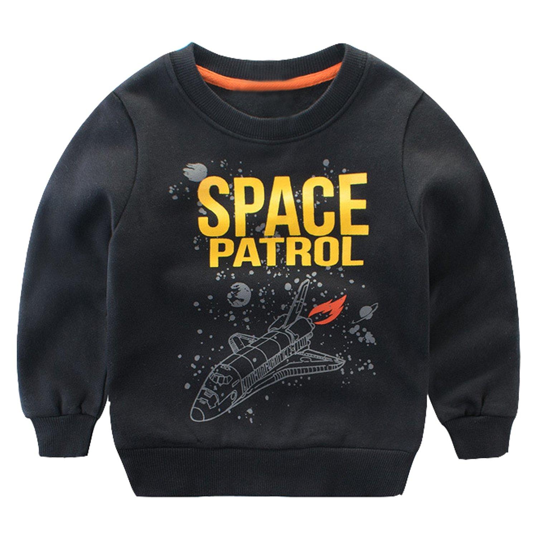 Baby Boys Girls Pullover Sweatshirt Long Sleeve T-Shirt Crew Neck Tops Evelin LEE LFA0532-CA