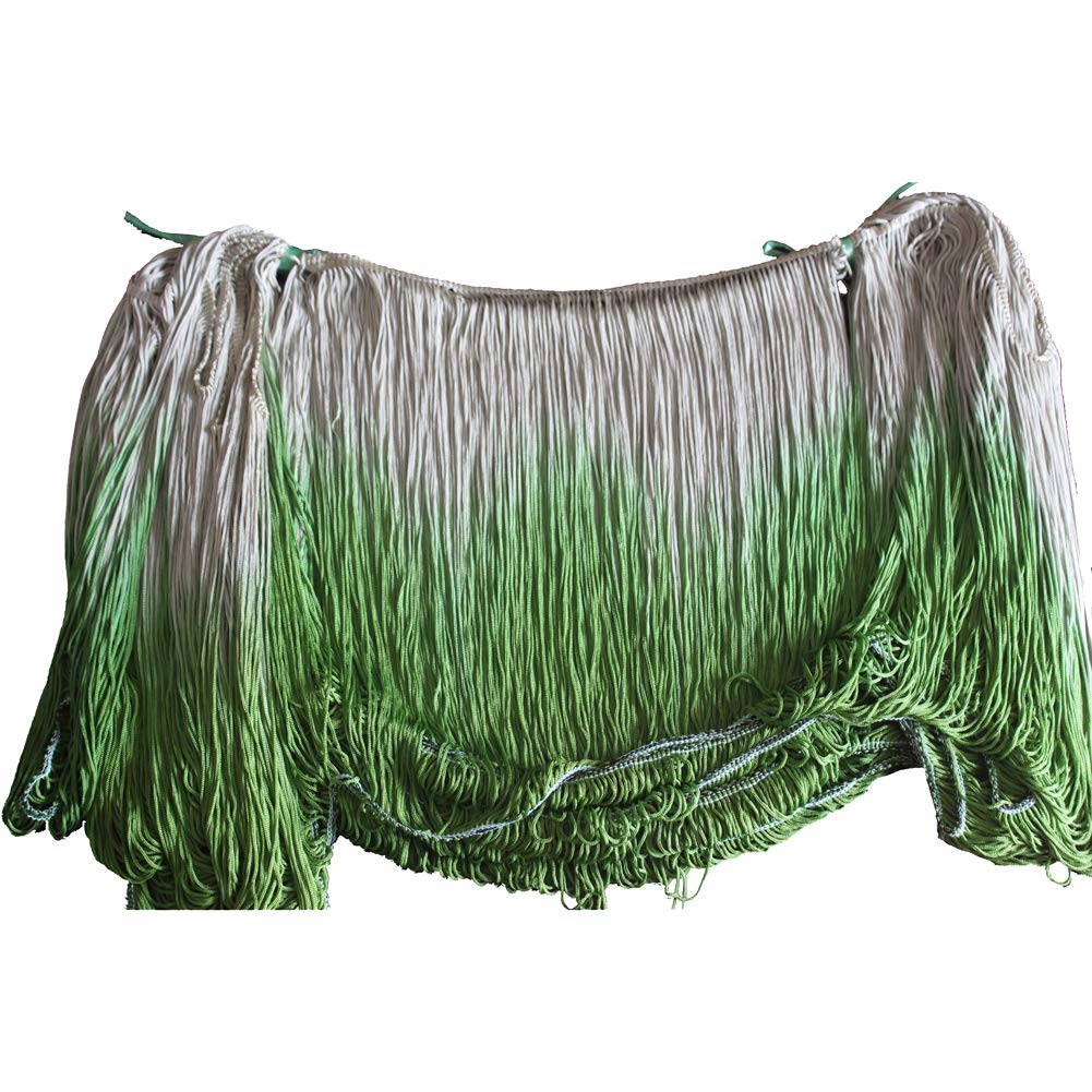 MELADY Pack of 10yards Double Color DIY Fringe Trim Lace Tassel Latin Dress Stage Clothes Lamp Shade Curtains Decoration (Green&Dark Green) by MELADY