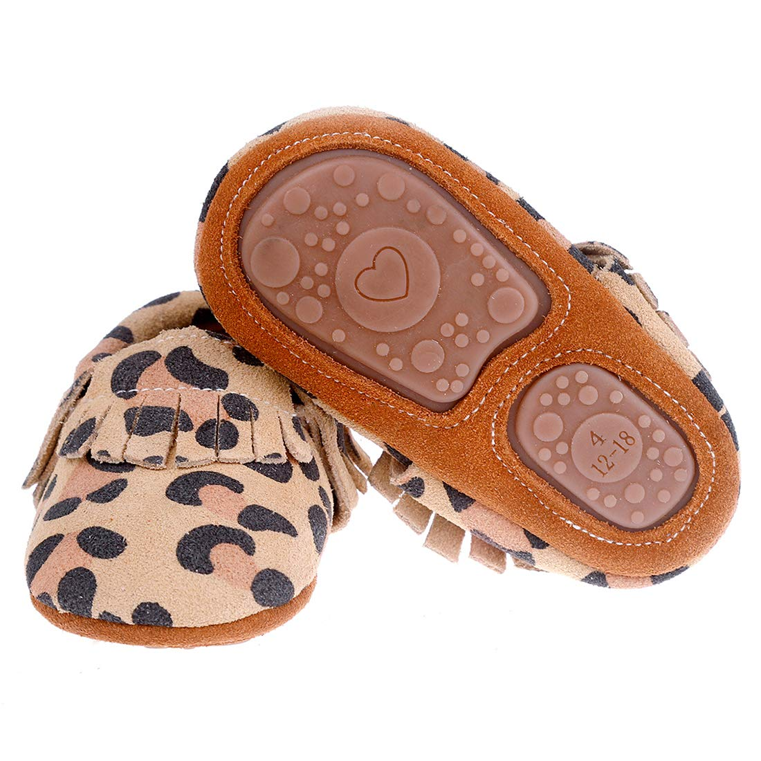 9b373b9d01c Pidoli Baby Leather Shoes Unisex Girls Boys Moccasins Rubber Sole ...