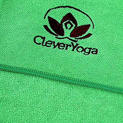 Hot Yoga Mat Towel With Matching Hand Towel - Instantly Improve Your Practice - Super Absorbent Microfiber Yoga Towel Set For A Non-Slip, Hygienic and Sweat Free Workout - For Men & Women - From Cleve