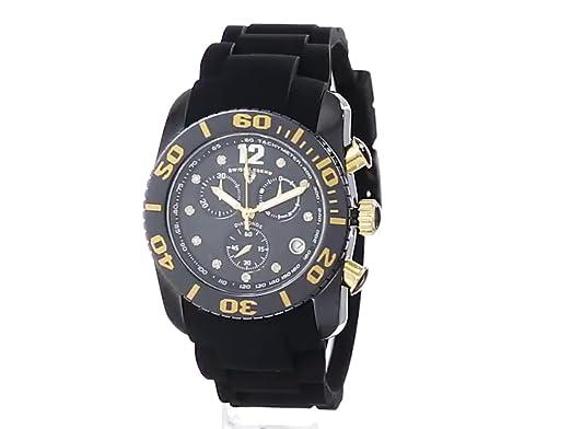 Amazon.com: Swiss Legend Mens 10127-01-GA Commander Diamonds Analog Display Swiss Quartz Black Watch: SWISS LEGEND: Watches