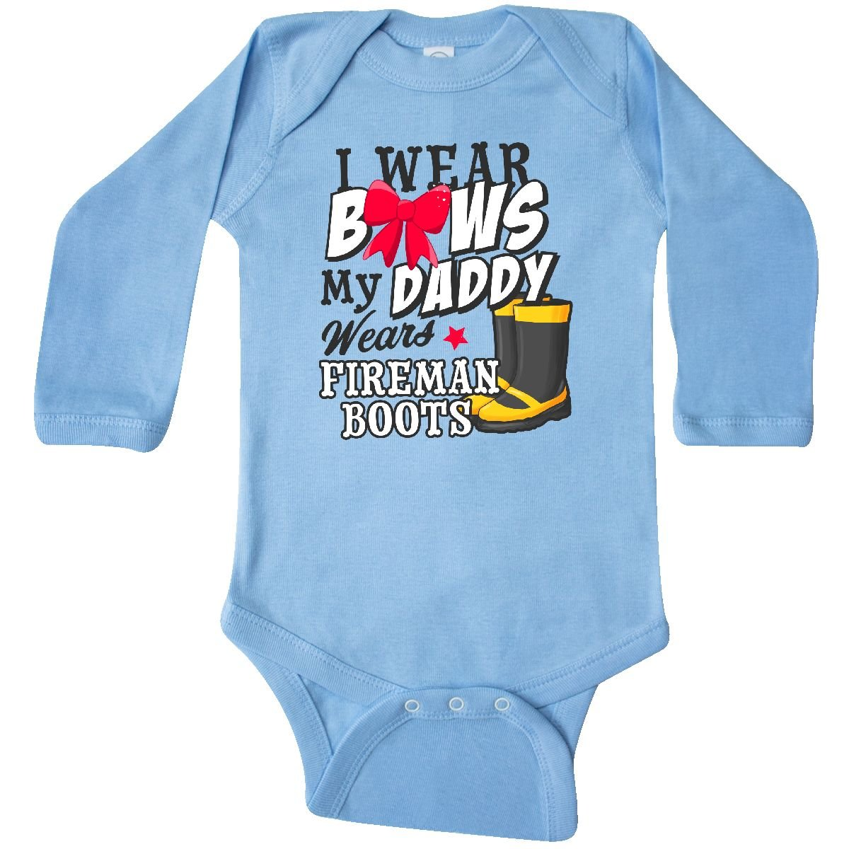 inktastic I Wear Bows My Daddy Wears Fireman Boots Toddler T-Shirt