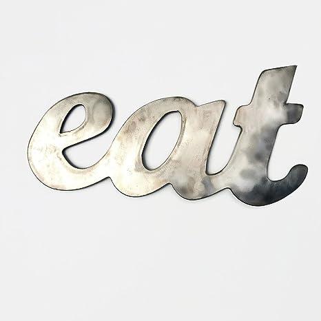 Rustic Home, Eat Sign, Farmhouse, Metal Words, Kitchen Wall Decor, Home  Decor, Farmhouse Sign