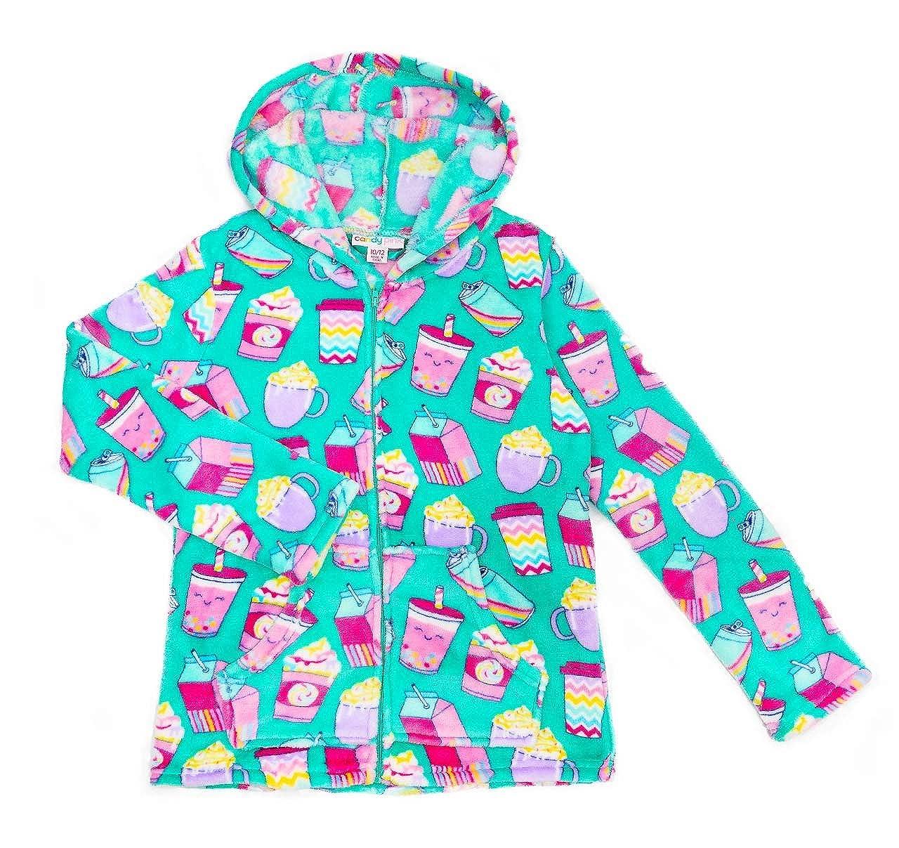 Candy Pink Girls Plush Premium Fuzzy Fleece Hoodie