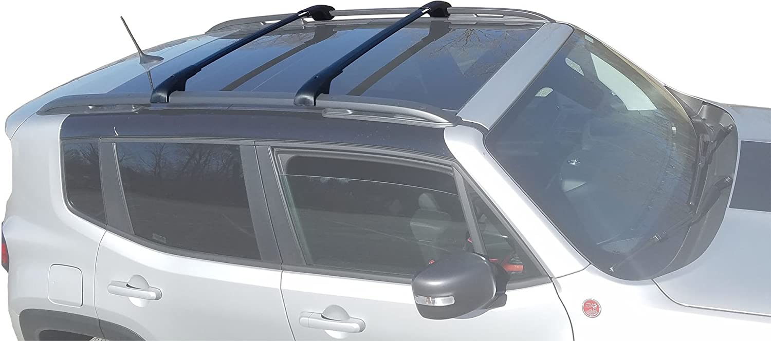 BRIGHTLINES Aero Crossbars Roof Racks Compatible with 2015-2020 Jeep Renegade