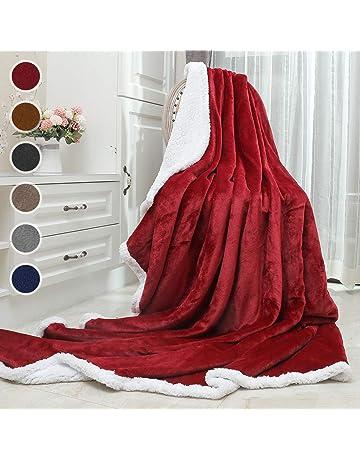 Awenia Manta de Sofá 150 x 200cm, Manta para Cama, Salón y Sillón (
