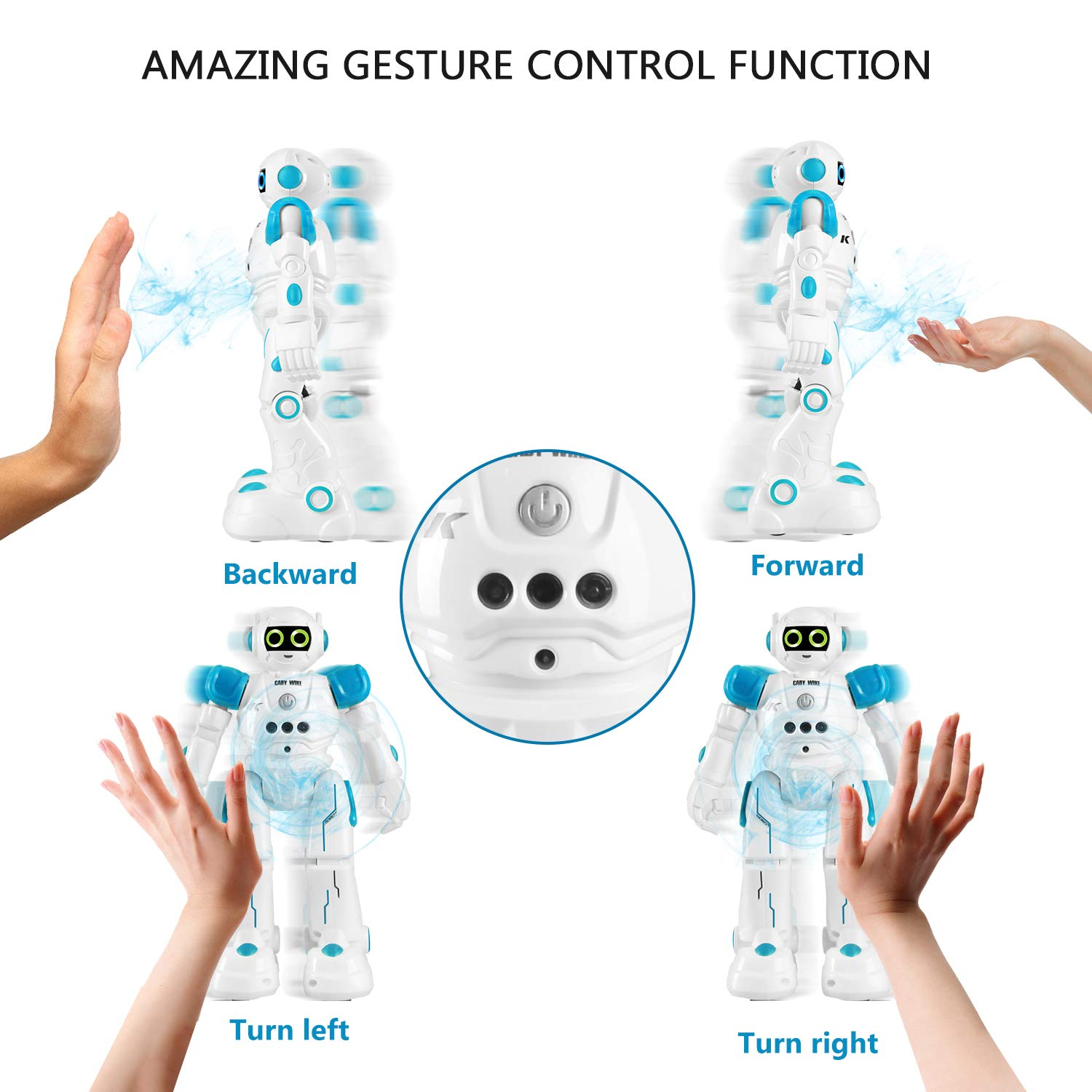 IHBUDS Robot Toy for Kids, Smart Robot Kit with Remote Control & Gesture Control, Perfect Robotics Gifts for Boys Girls Learning Programmable Walking Dancing Singing (Blue) by IHBUDS (Image #5)