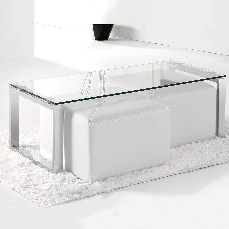 Adec - Mesa de Centro Benetto Cristal, mesita Auxiliar de Cristal ...