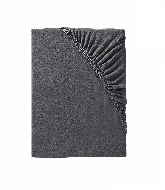 Sábana bajera ajustable para colchones desde 140 x 200 hasta 160 x 200, tejido Mako Jersey, ideal para cualquier ropa de cama, 100 % algodón, ...