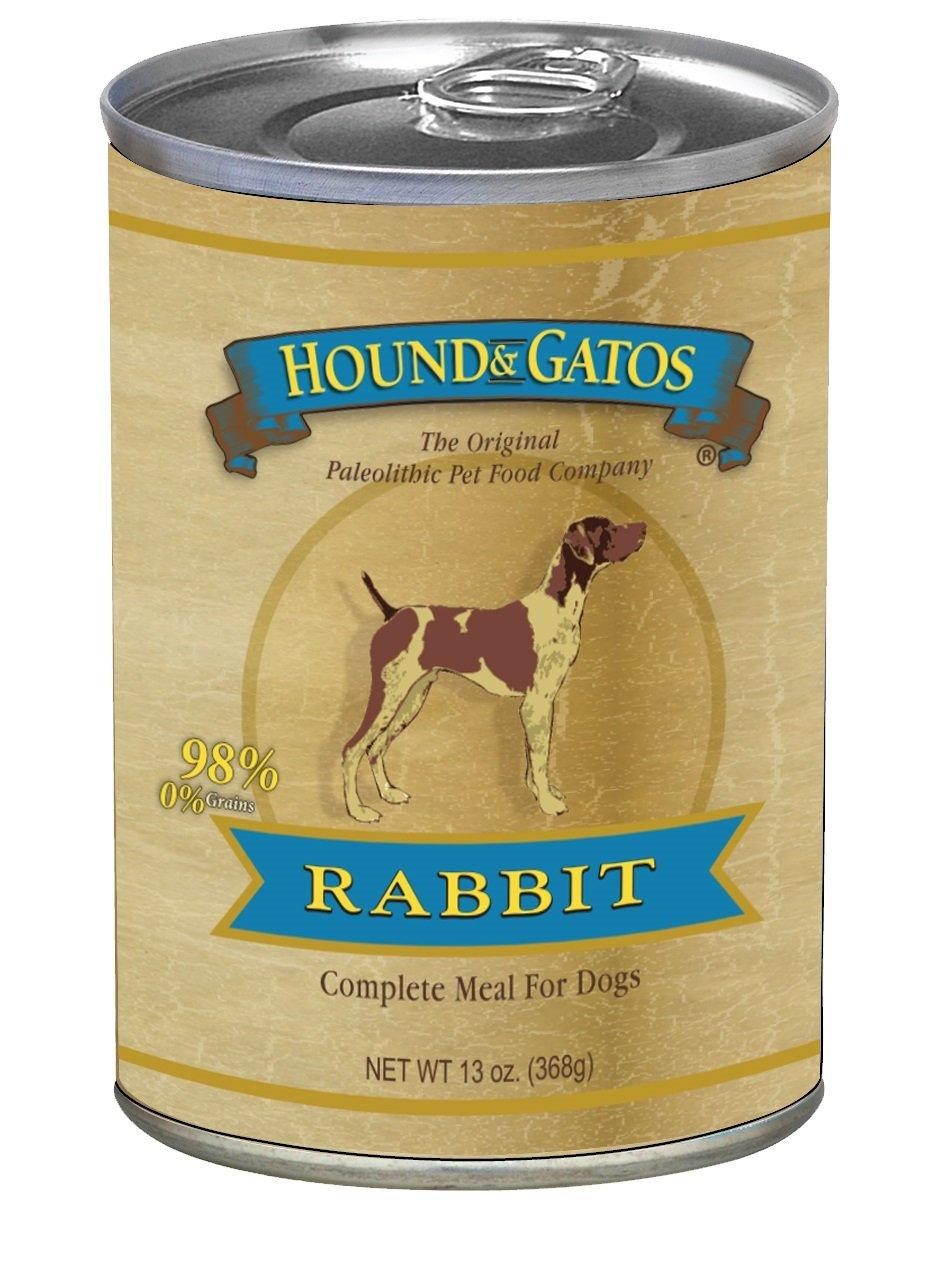 HOUND & GATOS PET FOOD Rabbit Formula Canned Dog Food, 13 oz, 12-Pack