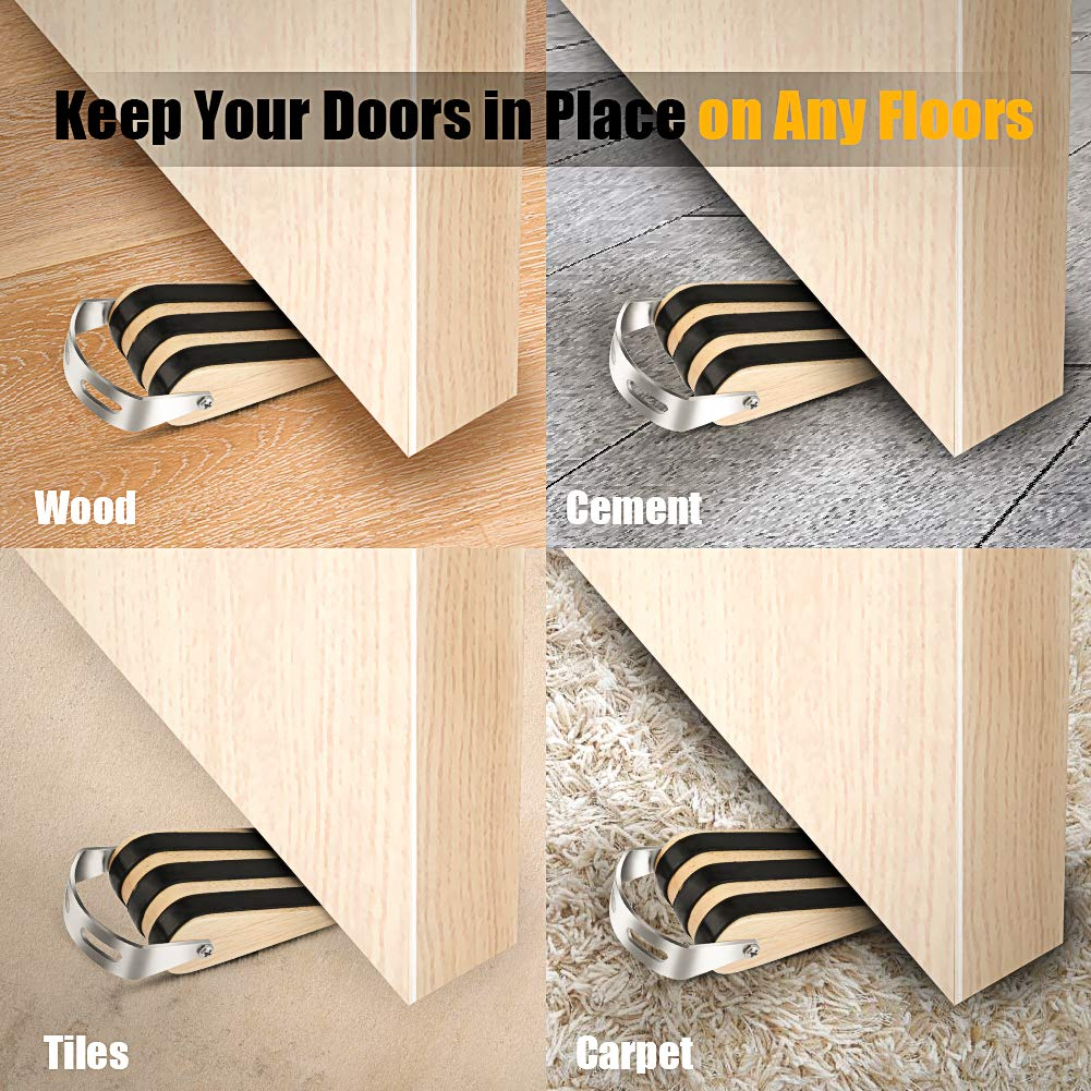 Office Furniture Accessories Quality Design For All Surfaces Non Slip Door Stops With Heavy Duty Natural 1 Door Stopper Decorative Doorstop Wedge Pack Of 1 Multi Surface Wooden Door Stop With Elastic Rubber