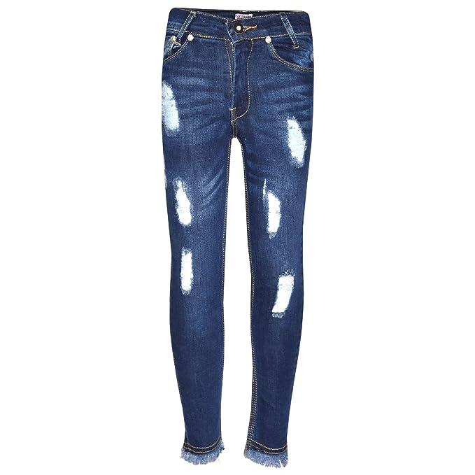 Amazon.com: A2Z ® Niñas Skinny Jeans Denim Niños Oscuro Azul ...