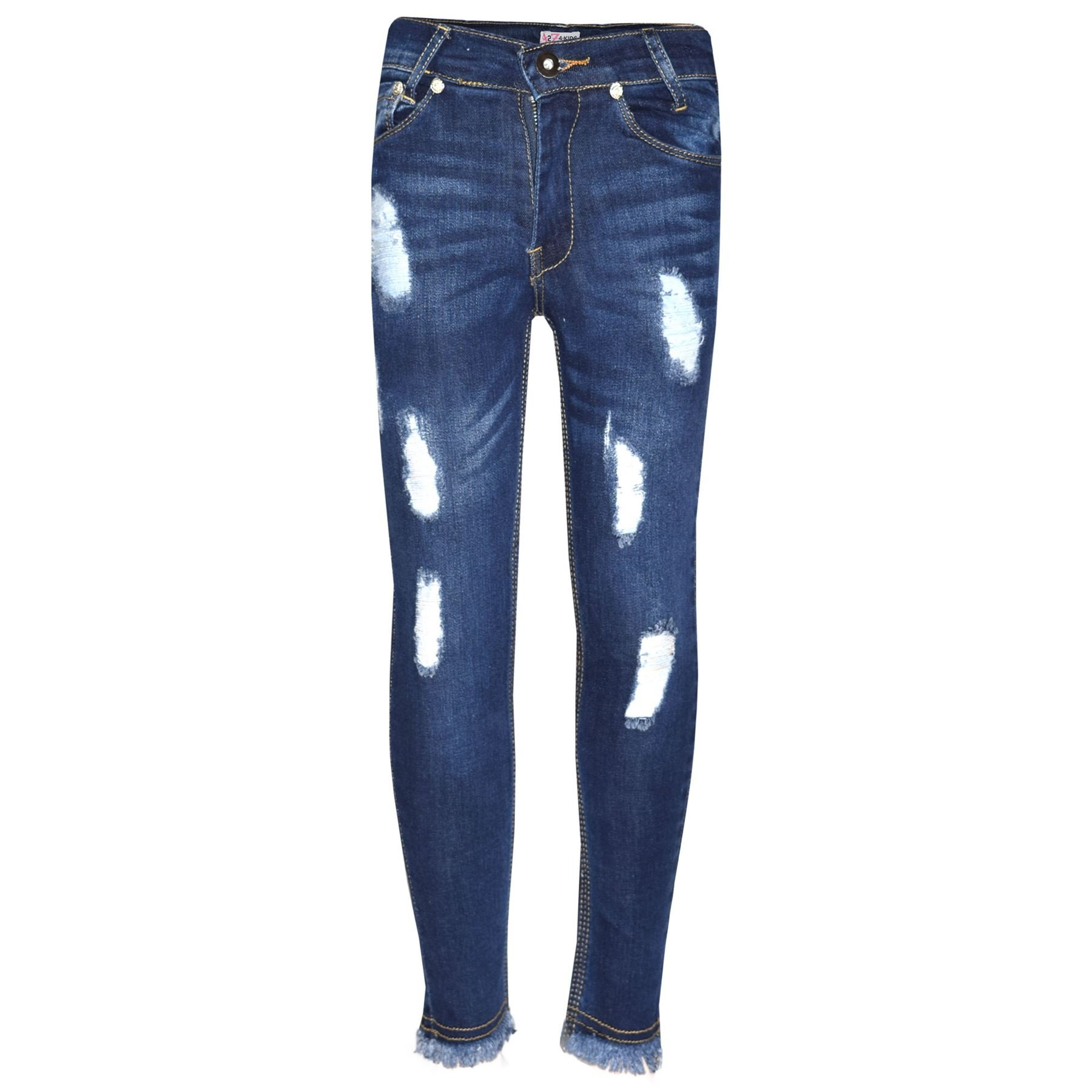 A2Z 4 Kids® Girls Skinny Jeans Kids Stretchy Denim Ripped Rough Pants Trousers Jeggings 5-13