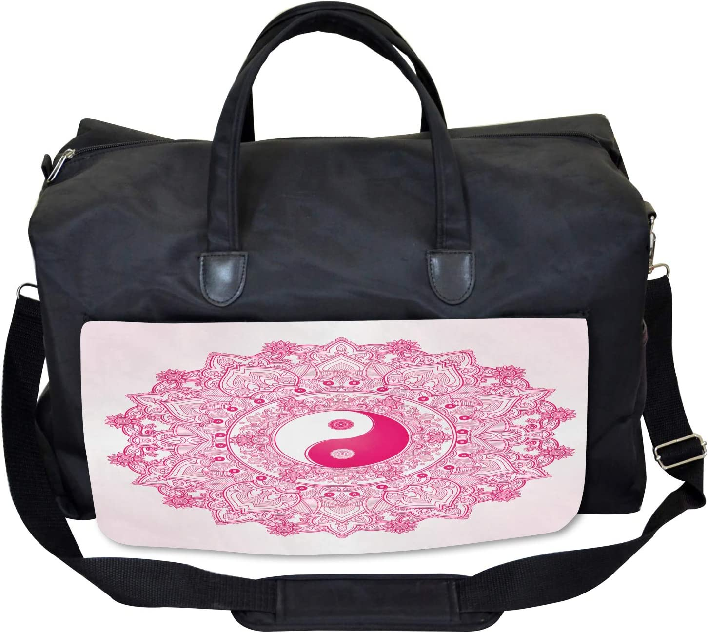 Ambesonne Ying Yang Gym Bag Mystical Ethnic Asian Large Weekender Carry-on