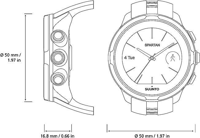 Suunto Spartan Sport Wrist HR - Reloj GPS Multideporte, sumergible ...