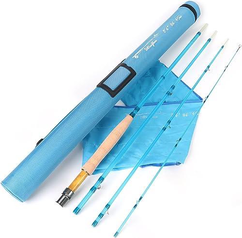 M MAXIMUMCATCH Maxcatch Fiberglass Fly Fishing Rod 3wt 5wt 6wt 8wt in Blue,Orange, Purple or Transparent