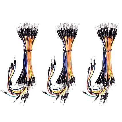 KEYESTUDIO 195pcs Alambres Flexibles de Puente para Tableros de Soldadura Sin Soldadura 4 Different Lengths Male
